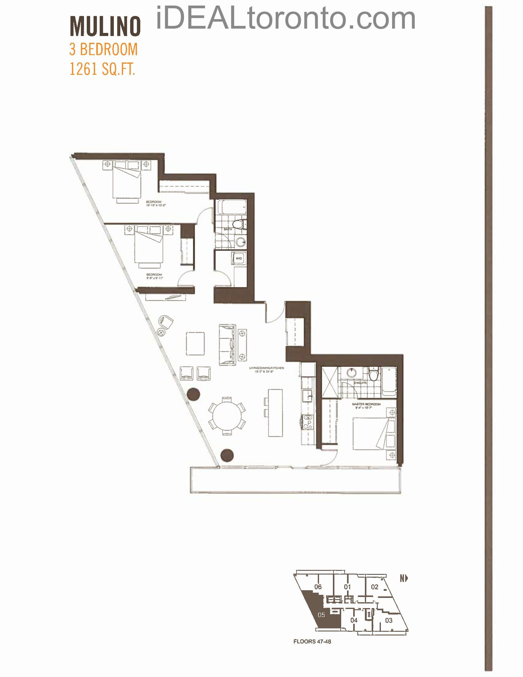 Mulino: 3 Bedroom,SE, 1261 SqFt