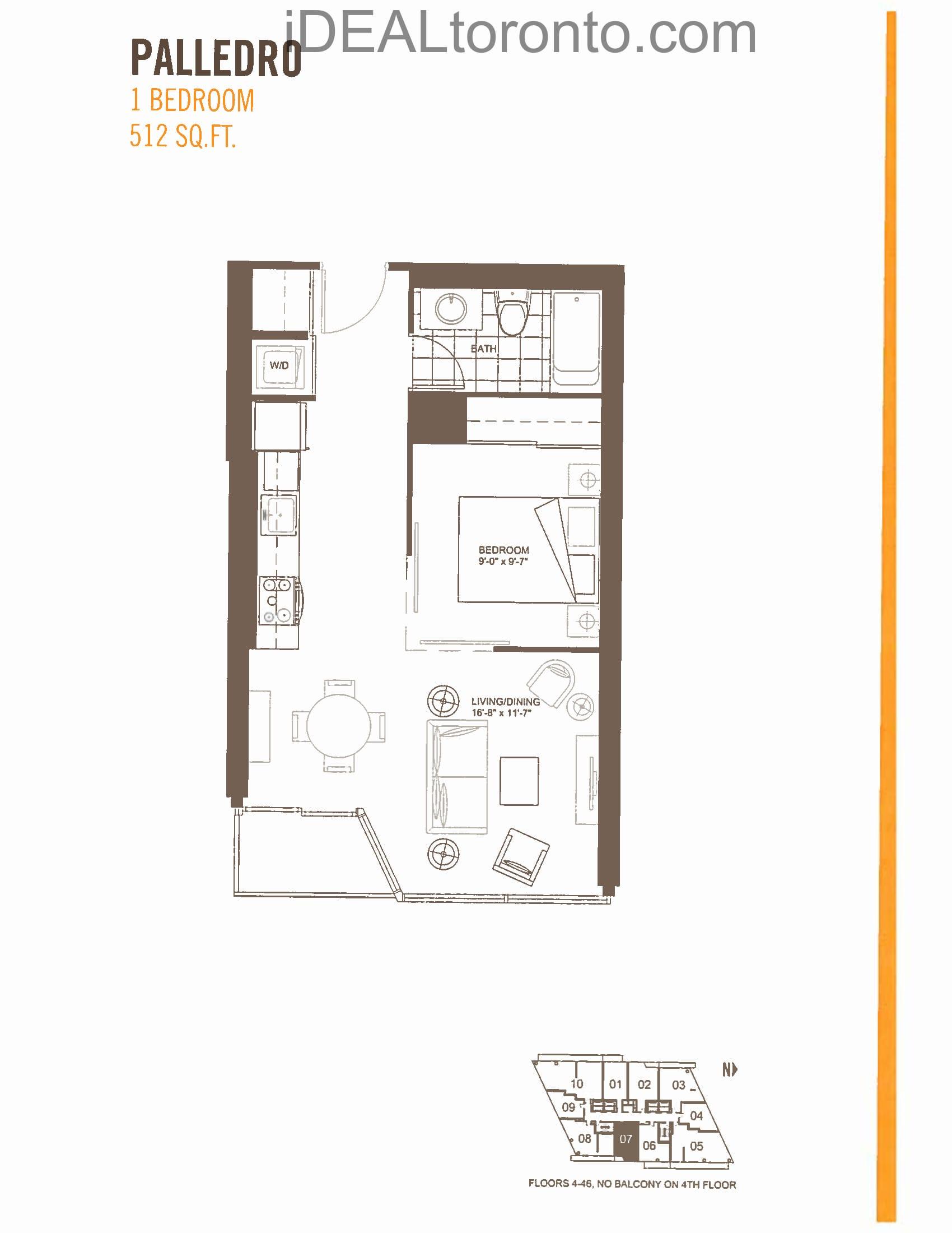Palledro: 1 Bedroom,E, 512 SqFt