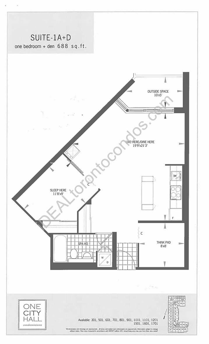 Suite 1A + Den