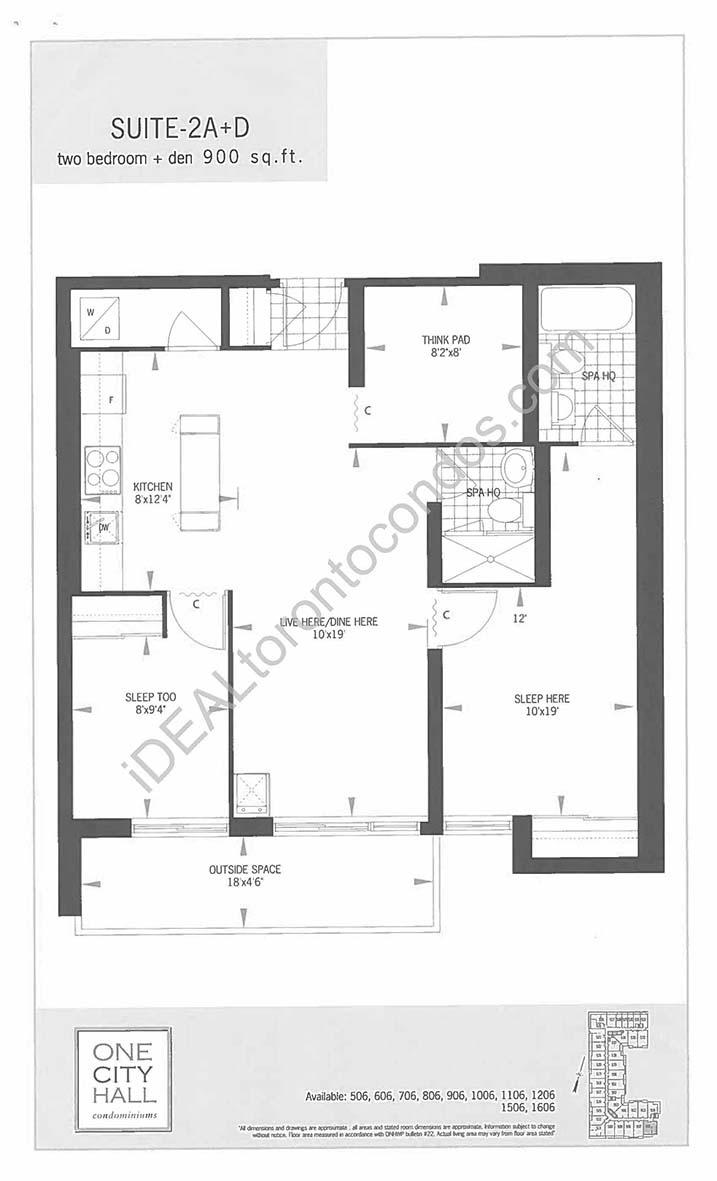 Suite 2A + Den