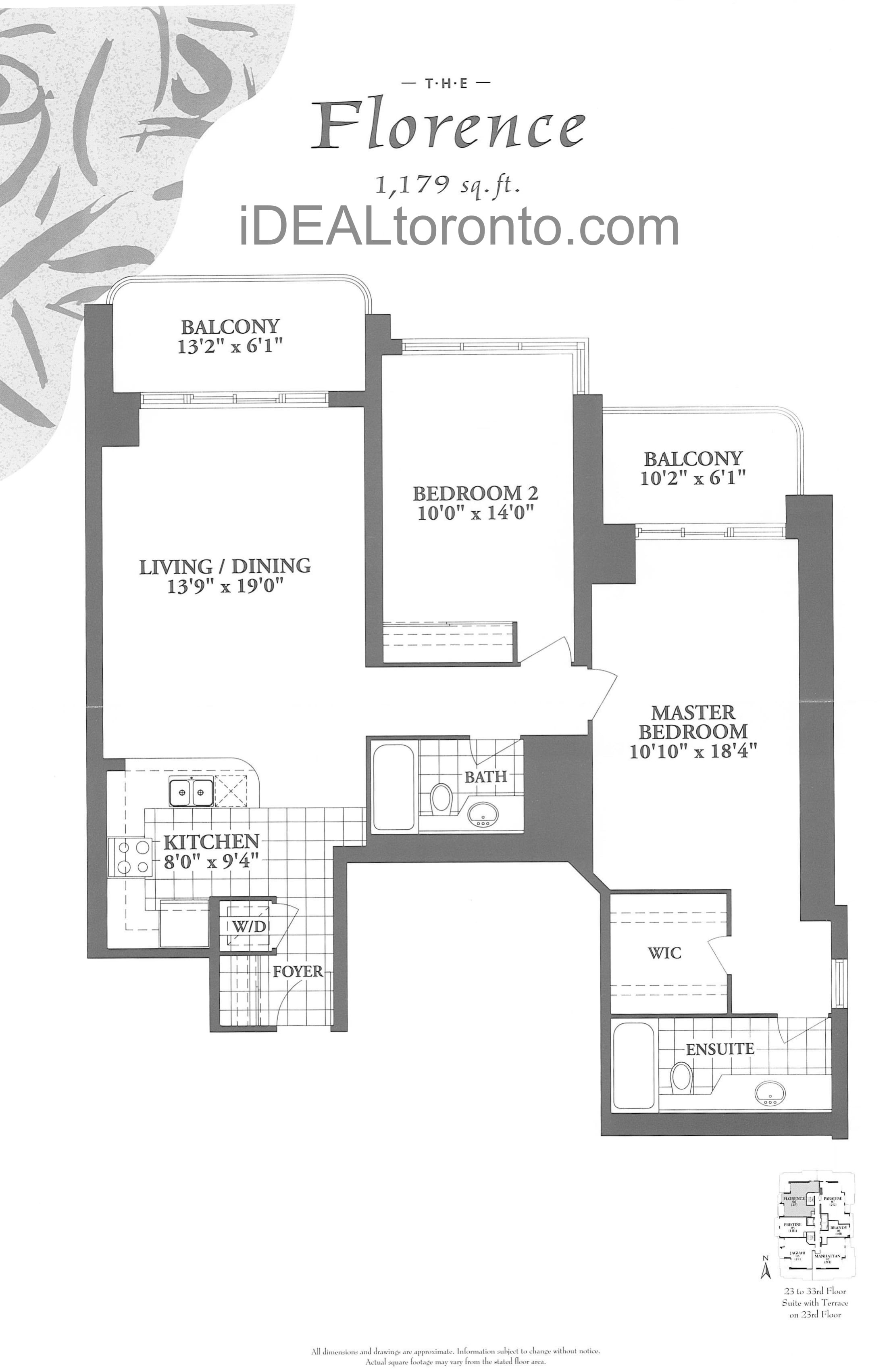 The Florence: 2 Bedroom, 1,179 SqFt