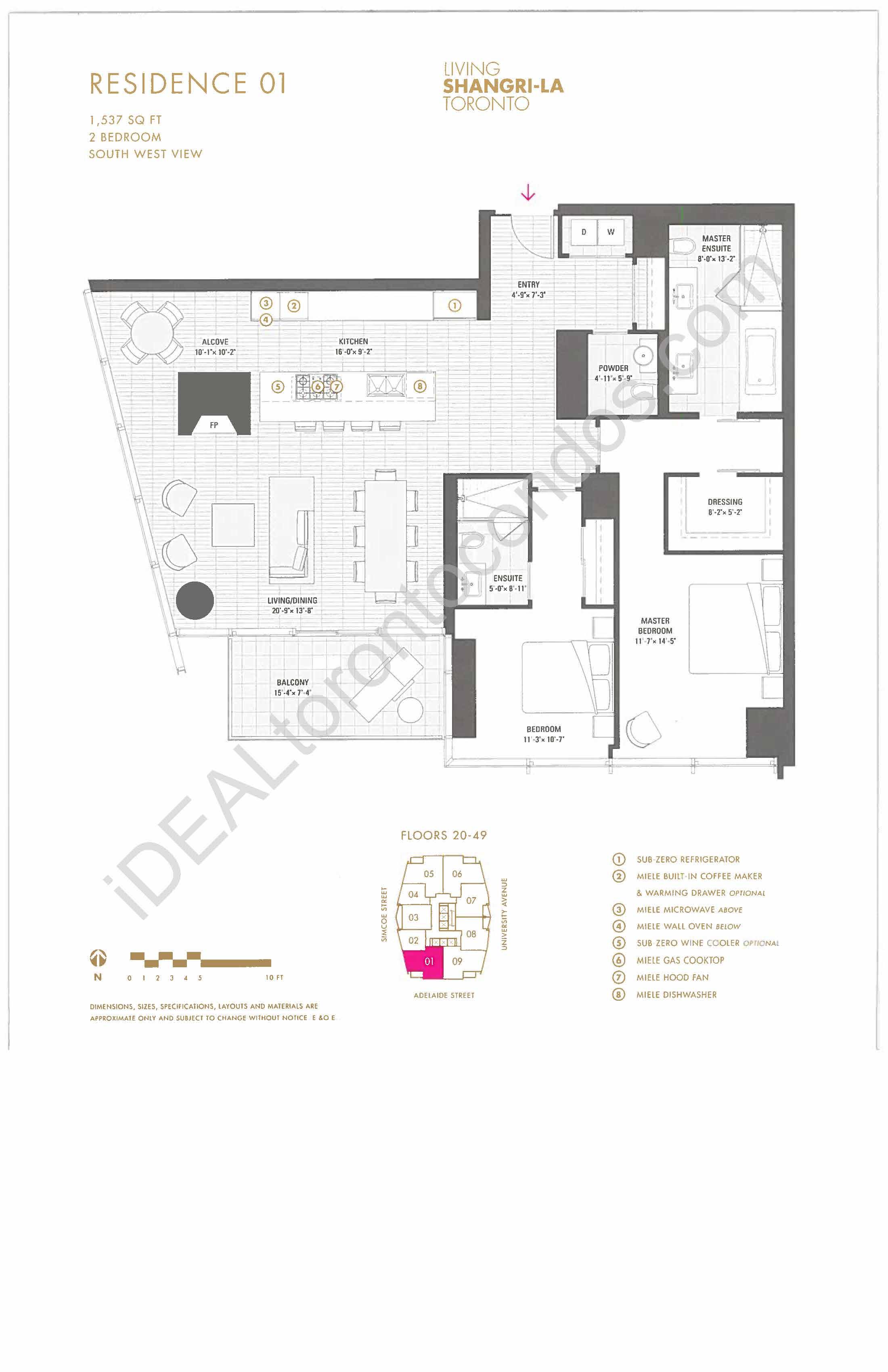 Residence 01 - 2 Bedroom
