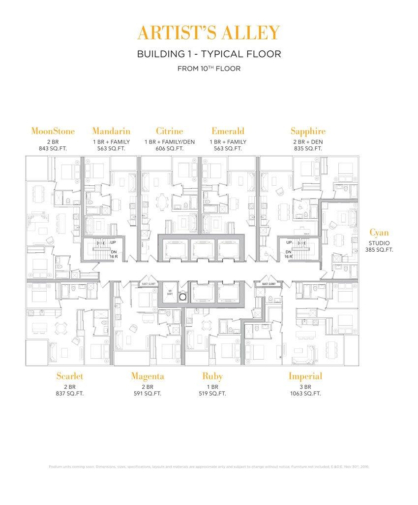 Floorplate     Building 1