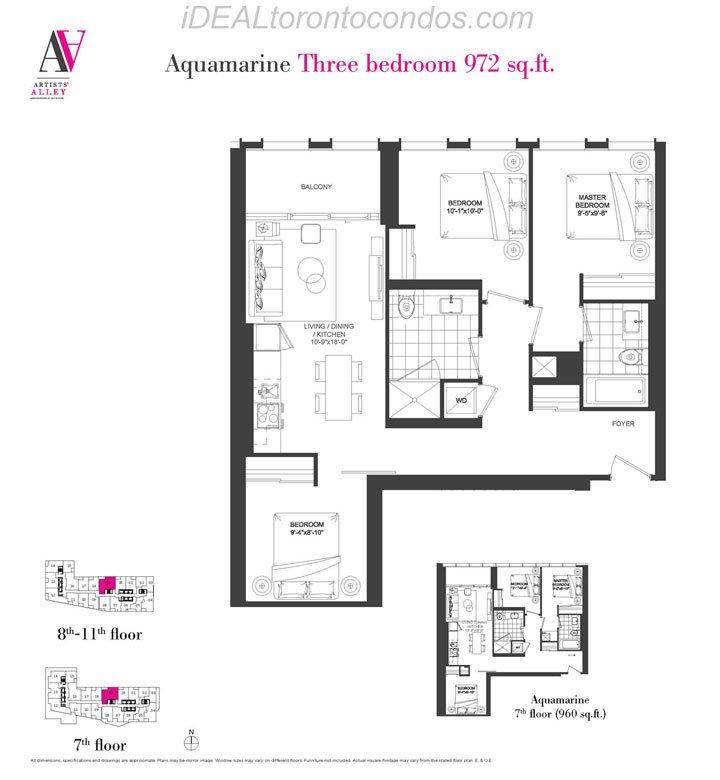Aquamarine Three bedroom - Phase 1