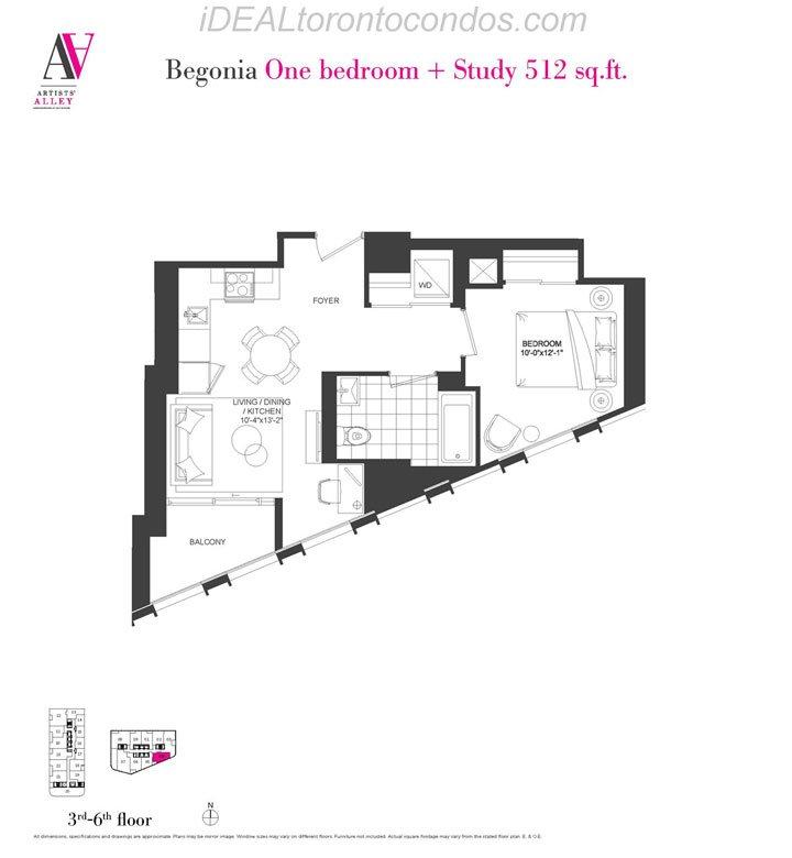 Begonia One bedroom + study - Phase 1