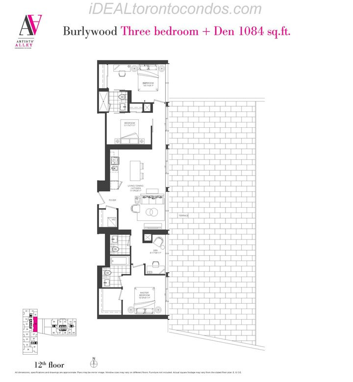 Burlywood Three bedroom + Den - Phase 1