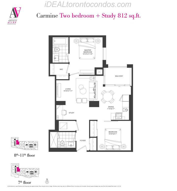 Carmine Two bedroom + Study - Phase 1