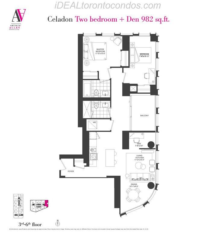 Celadon Two bedroom + Den - Phase 1