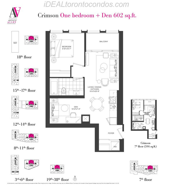 Crimson One bedroom + Den - Phase 1