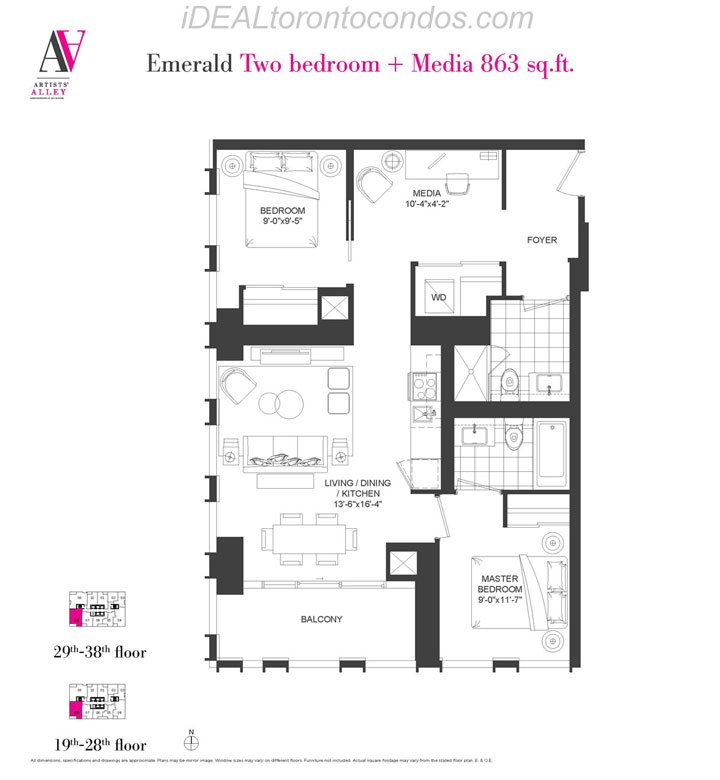 Emerald Two bedroom + Media - Phase 1