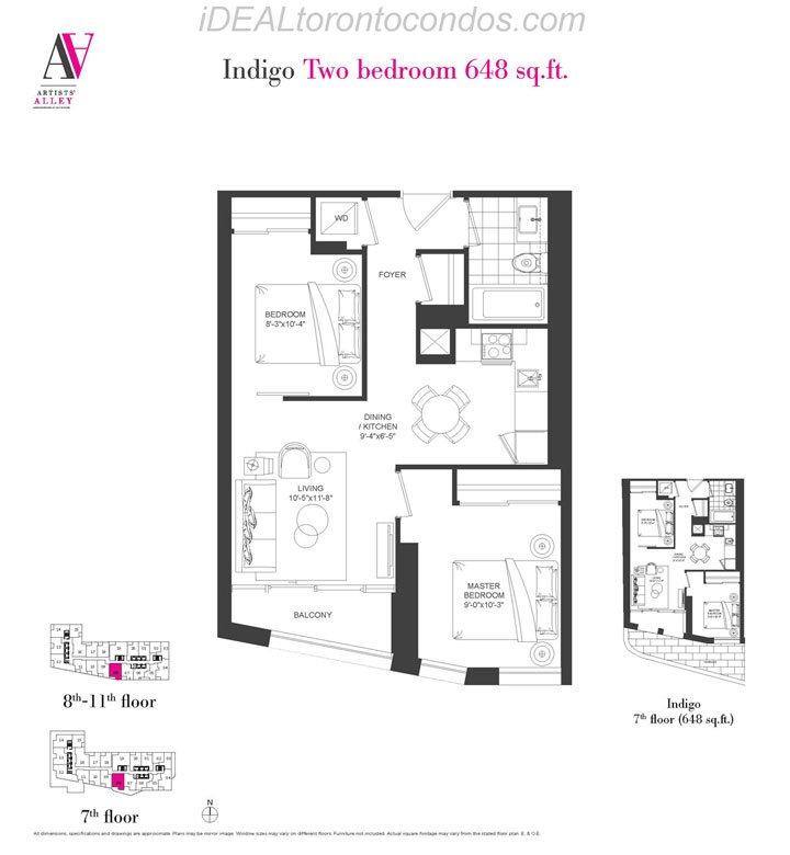Indigo Two bedroom - Phase 1
