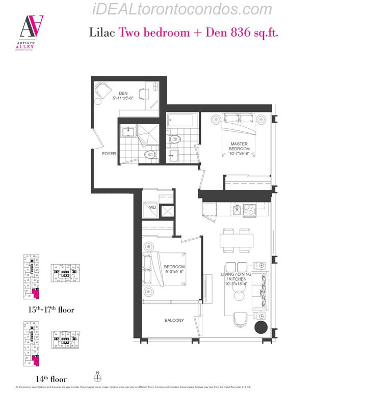 Lilac Two bedroom + Den - Phase 1