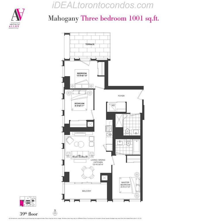 Mahogany Three bedroom - Phase 1