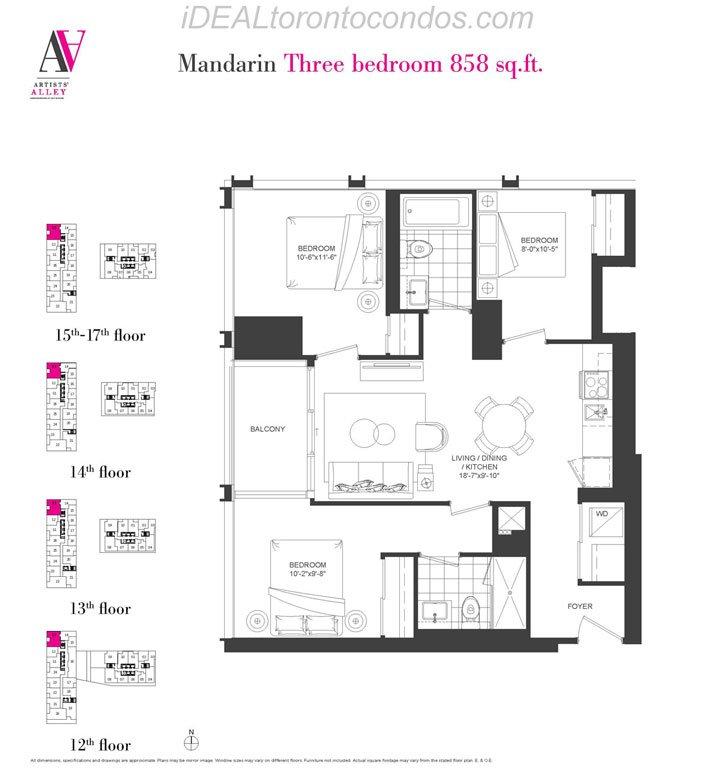 Mandarin Three bedroom - Phase 1