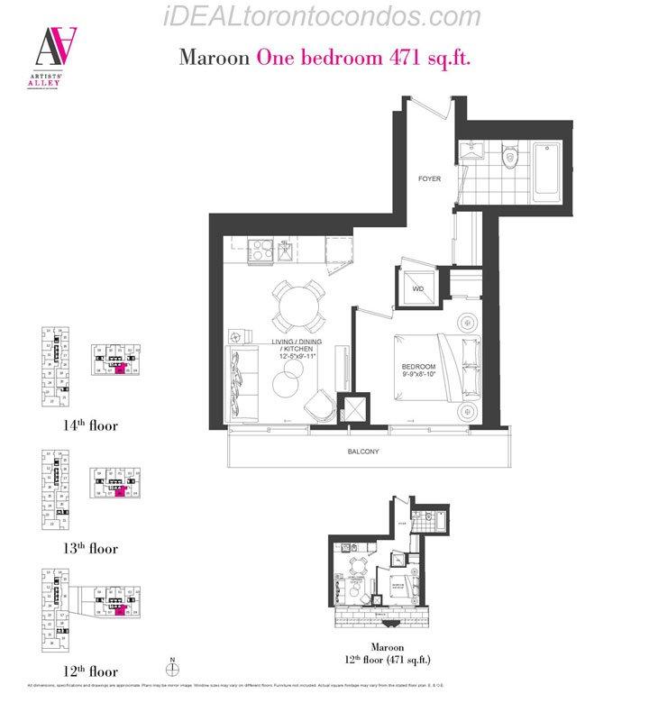 Maroon One bedroom - Phase 1
