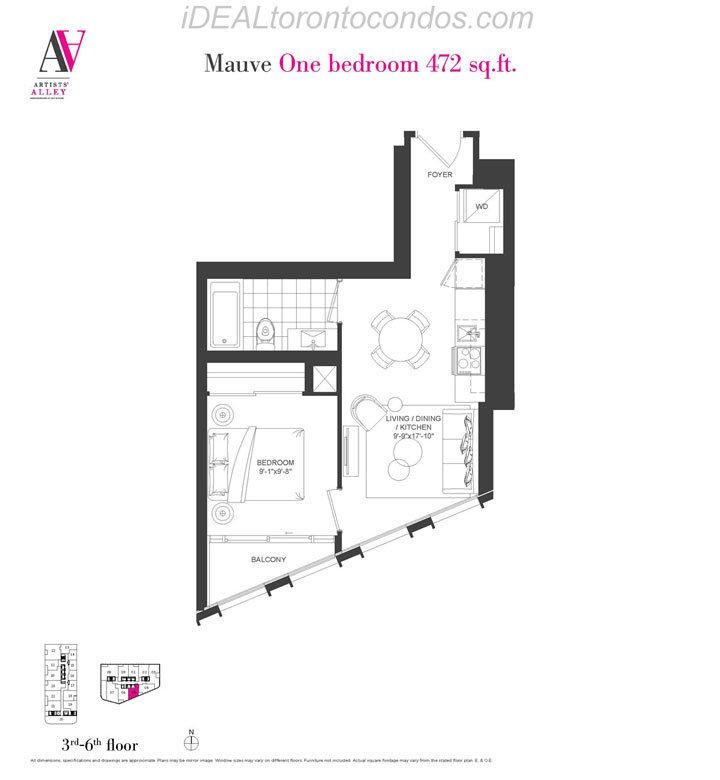 Mauve One bedroom - Phase 1