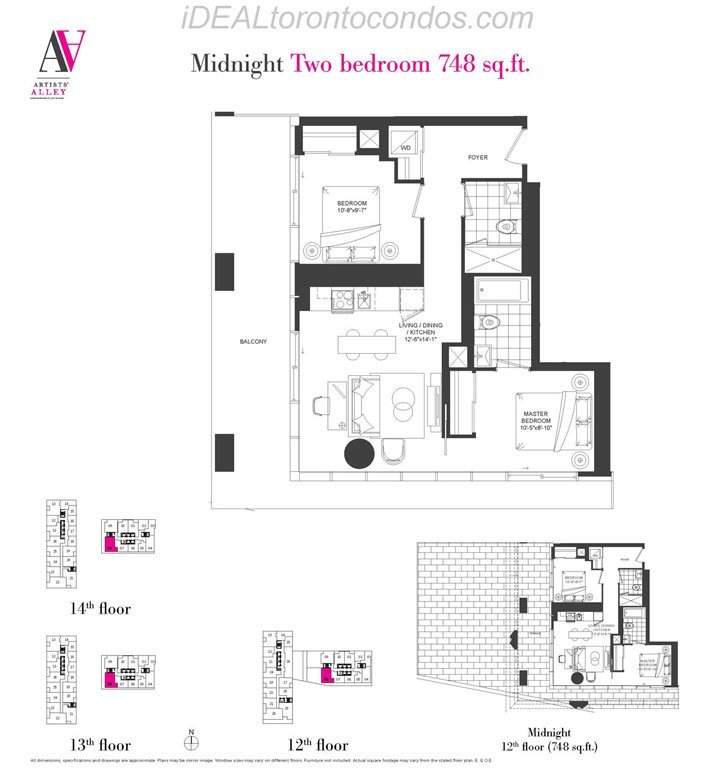 Midnight Two bedroom - Phase 1