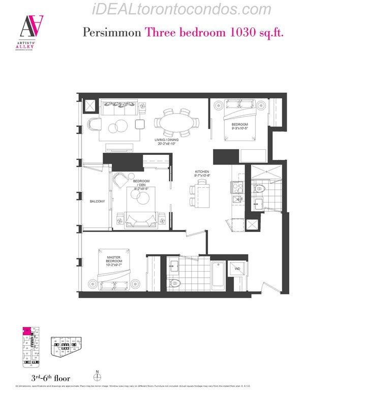 Persimmon Three bedroom - Phase 1