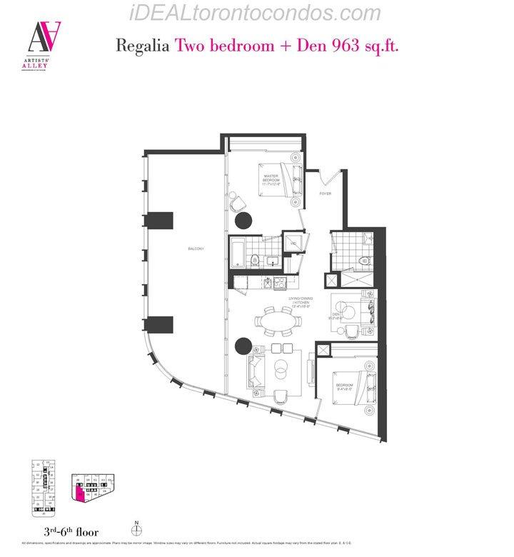 Regalia Two bedroom + Den - Phase 1