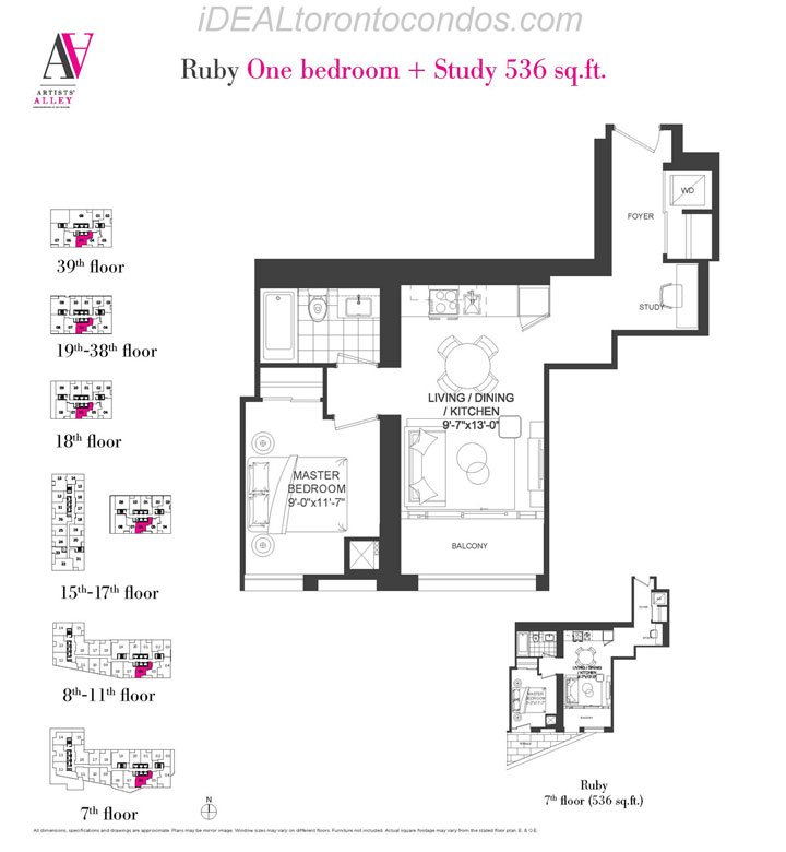 Ruby One bedroom + Study - Phase 1