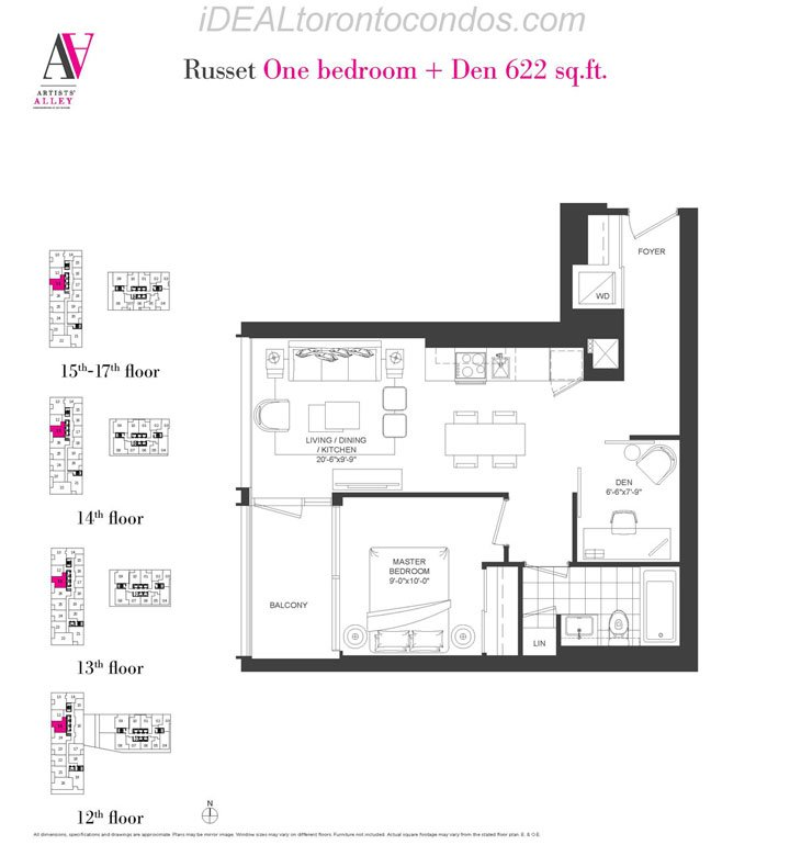 Russet One bedroom + Den - Phase 1