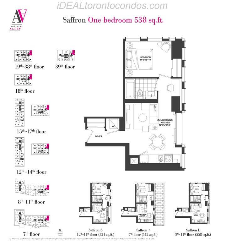 Saffron One bedroom - Phase 1