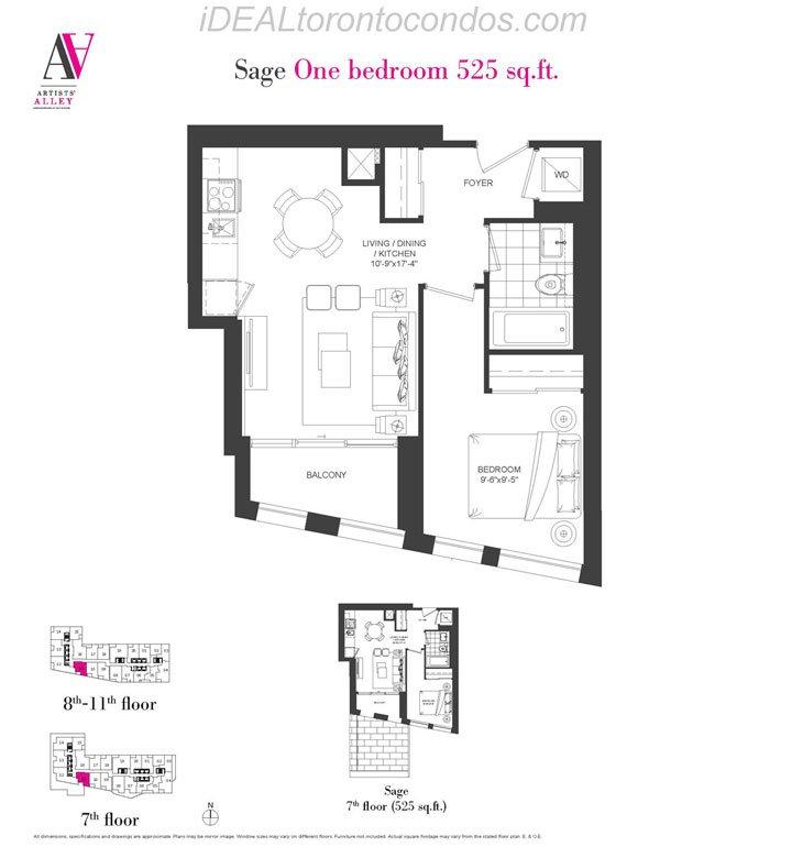 Sage One bedroom - Phase 1