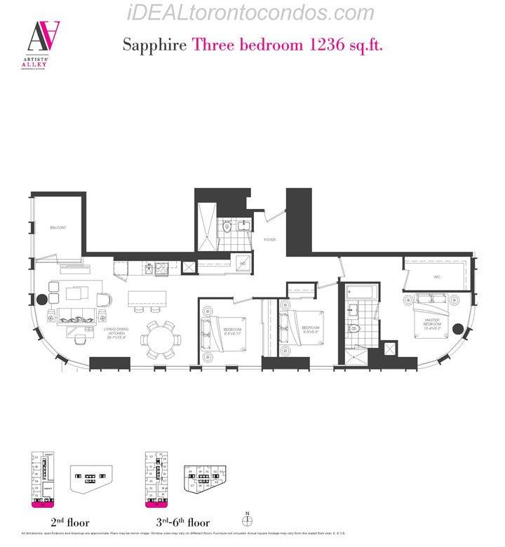 Sapphire Three bedroom - Phase 1