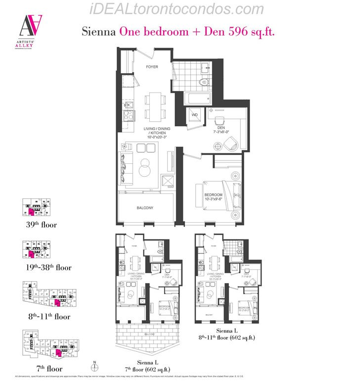 Sienna One bedroom + Den - Phase 1