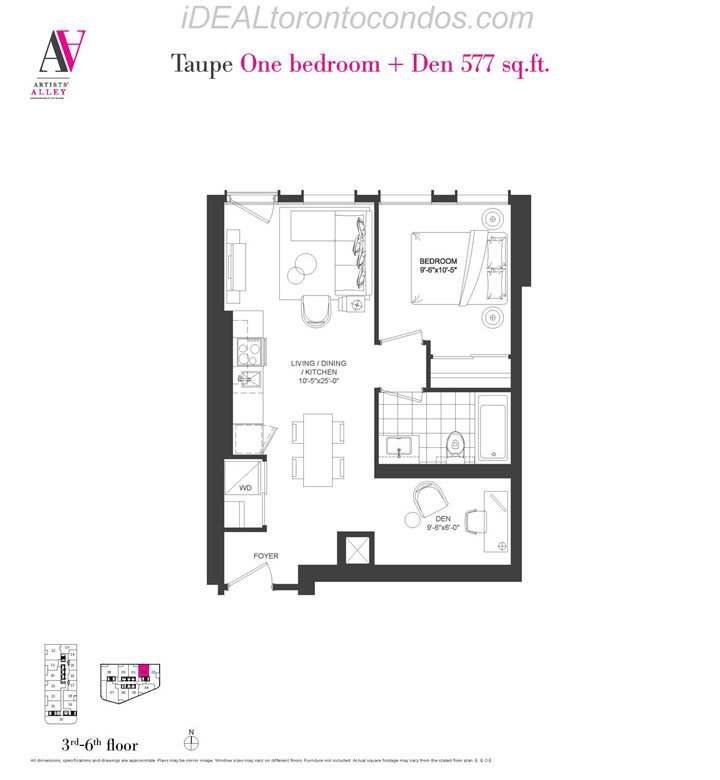 Taupe One bedroom + Den - Phase 1