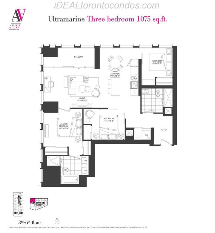 Ultramarine Three bedroom - Phase 1
