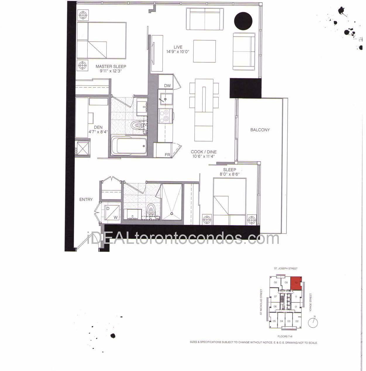Two Bedroom + Den