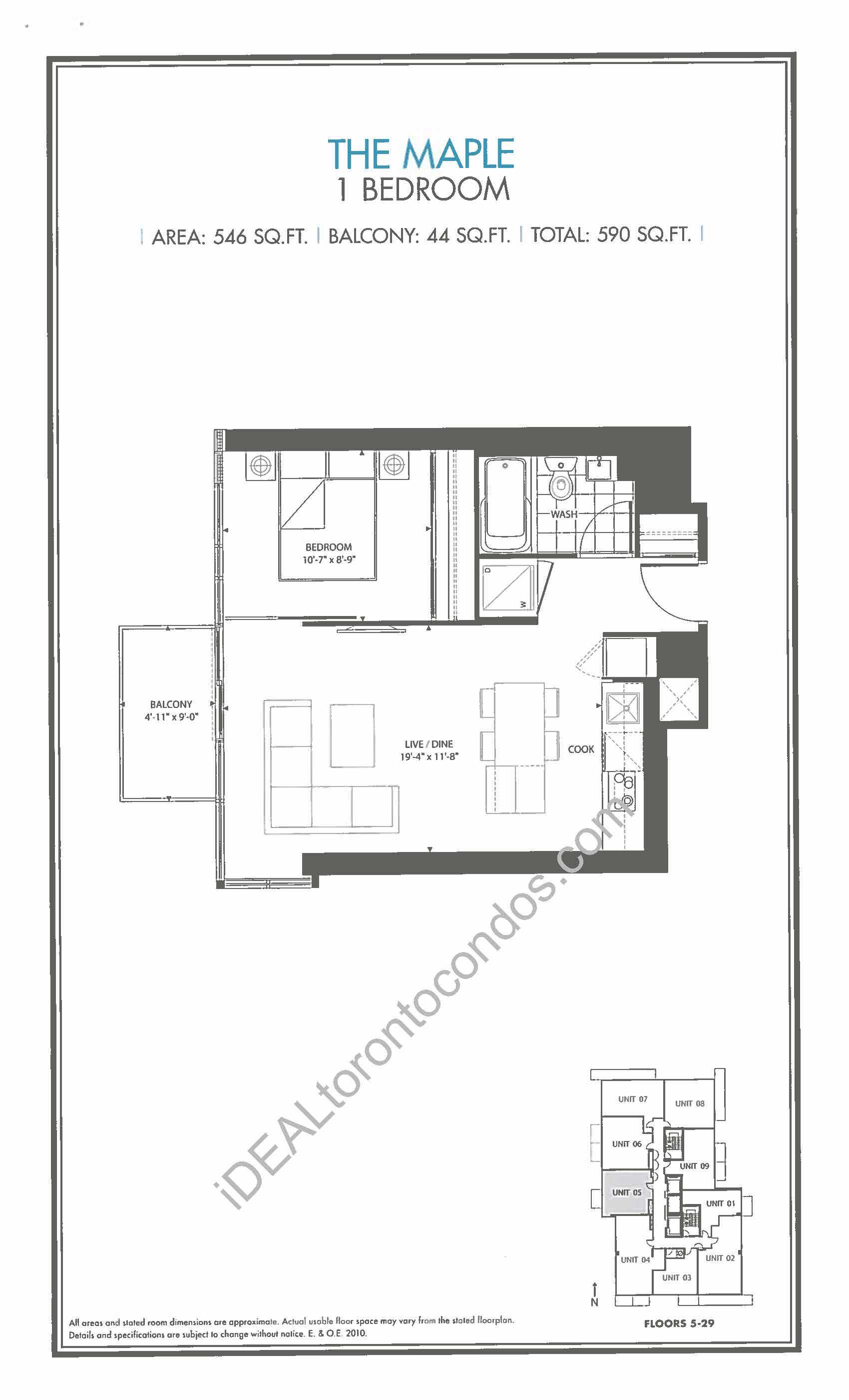 The Maple - 1 Bedroom