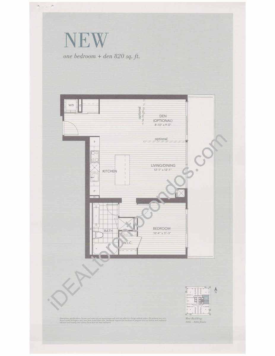 New - 1 Bedroom+den