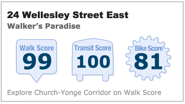 Walk Score 24 Wellesley St