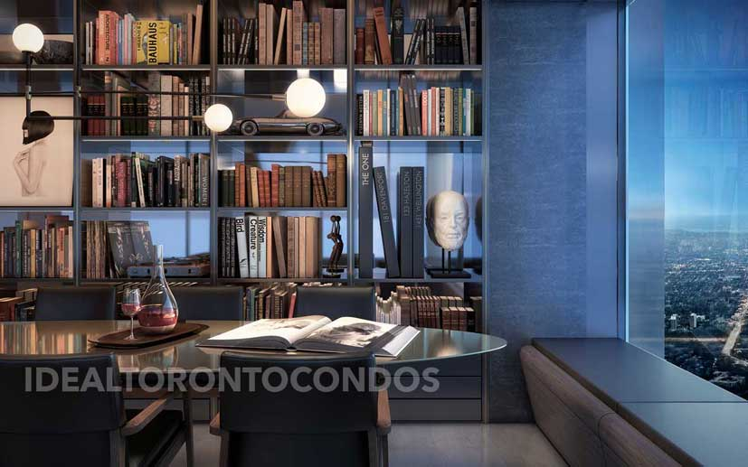 The One Bloor Street West living Room