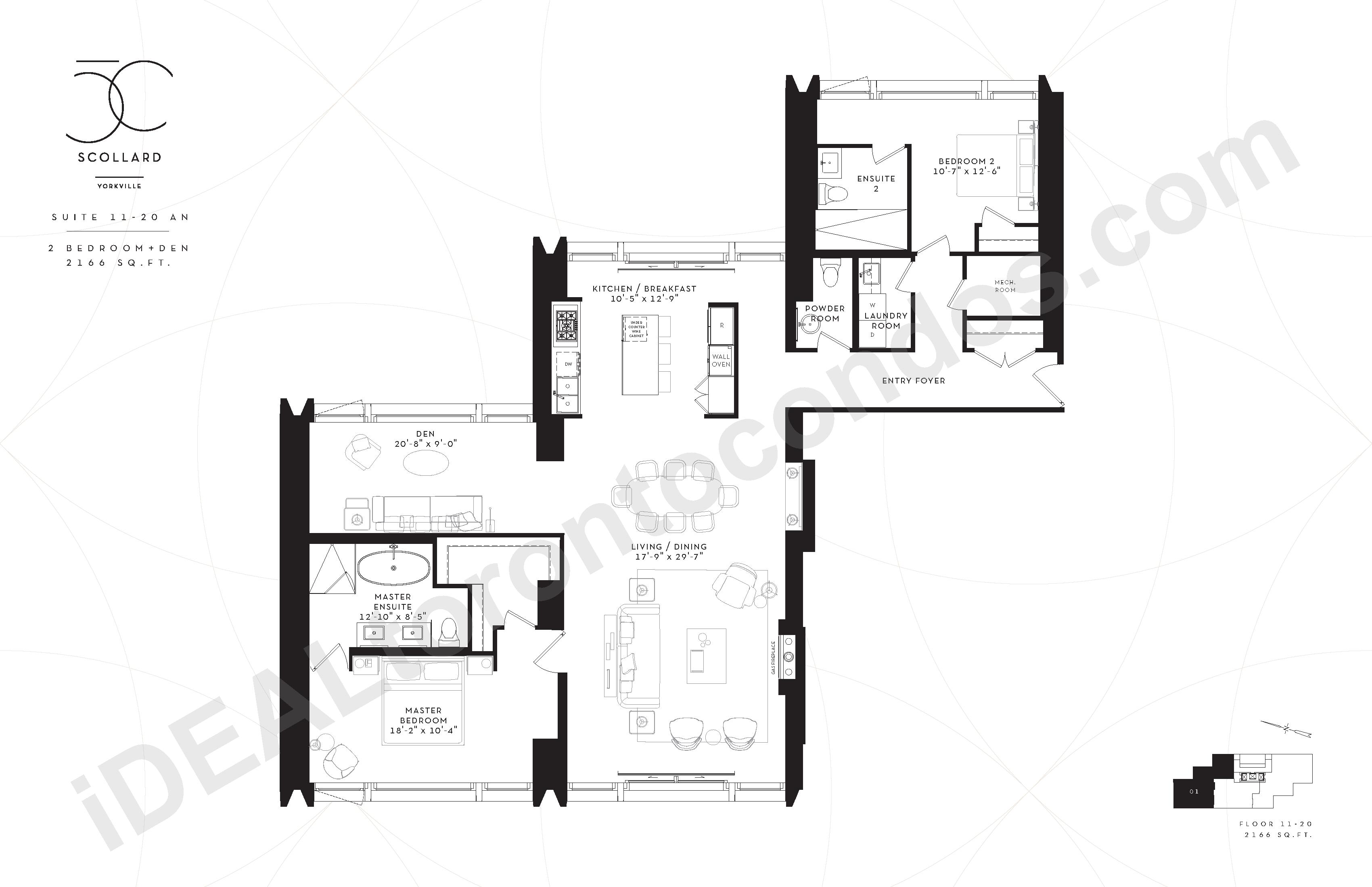 Suite 11-20 AN | 2 Bedroom + Den