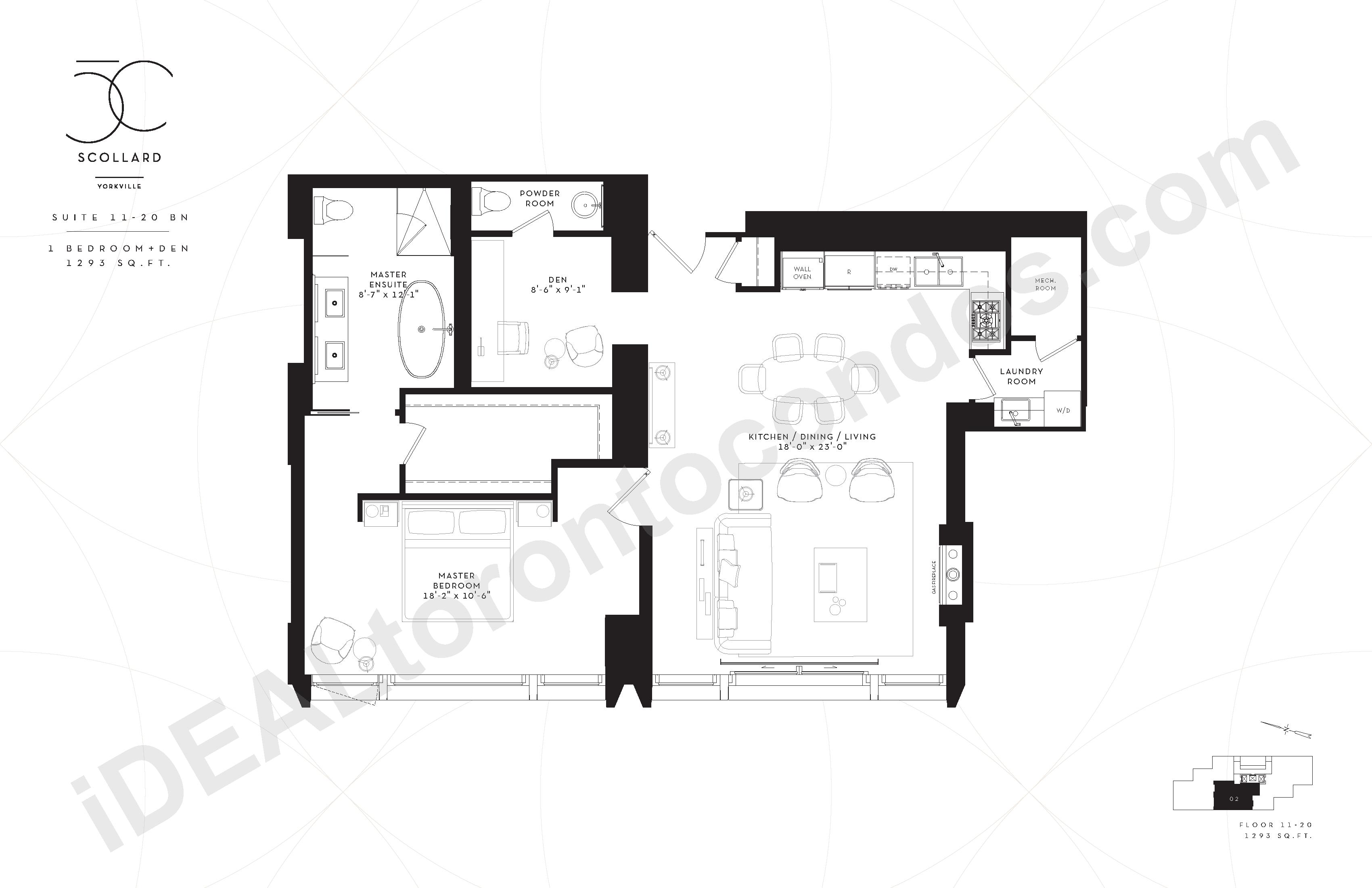 Suite 11-20 BN | 1 Bedroom + Den