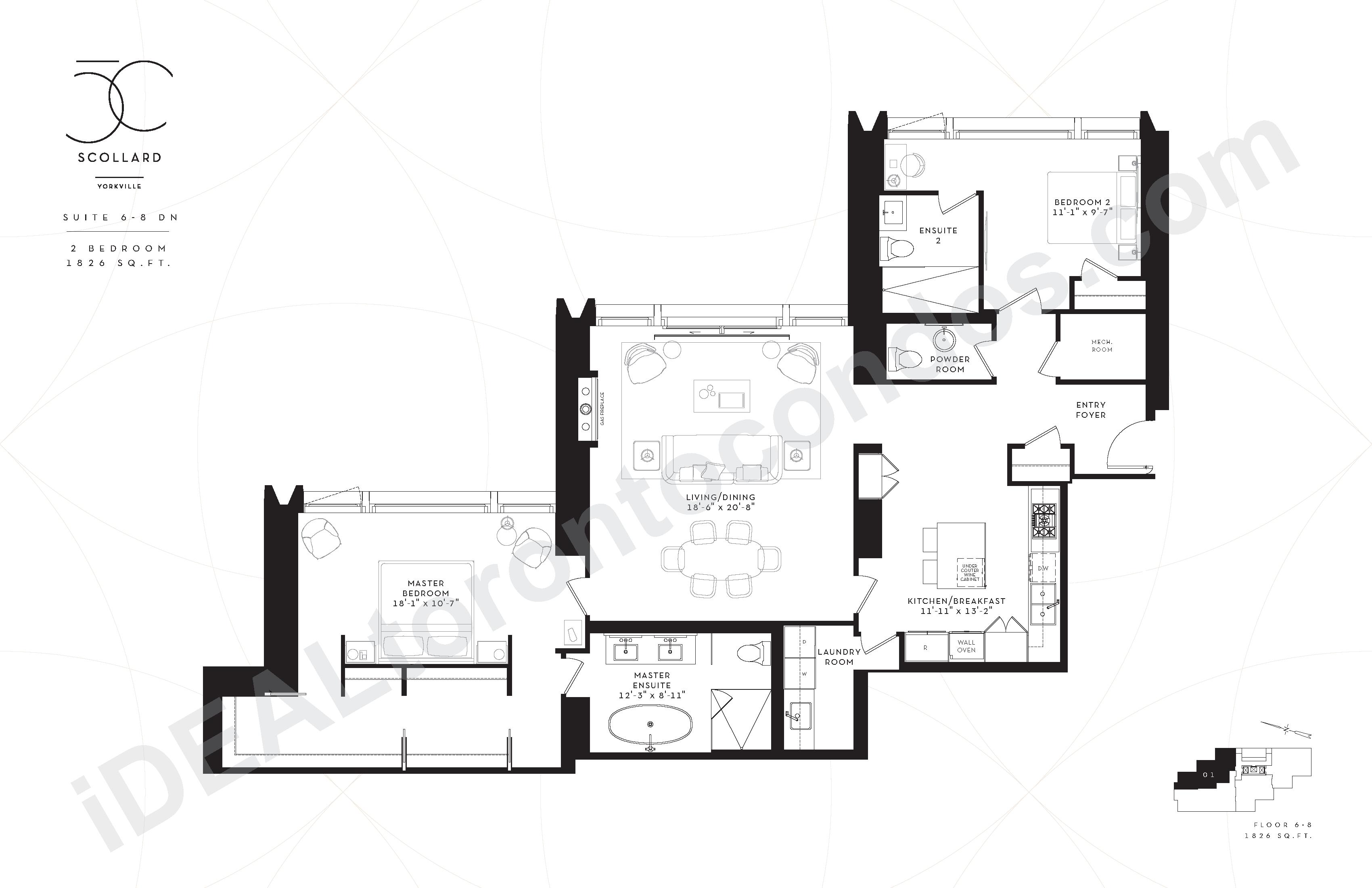 Suite 6-8 DN | 2 Bedroom