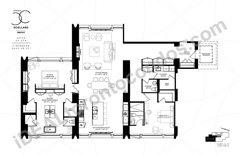Suite 26-27 N | 2 Bedroom