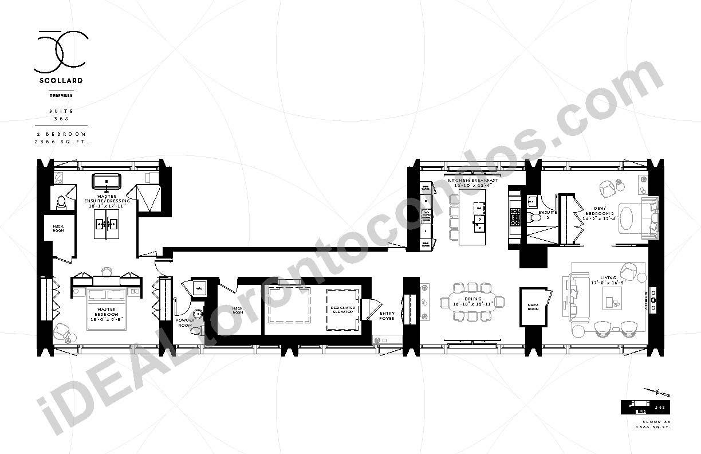 Suite 38 S | 2 Bedroom