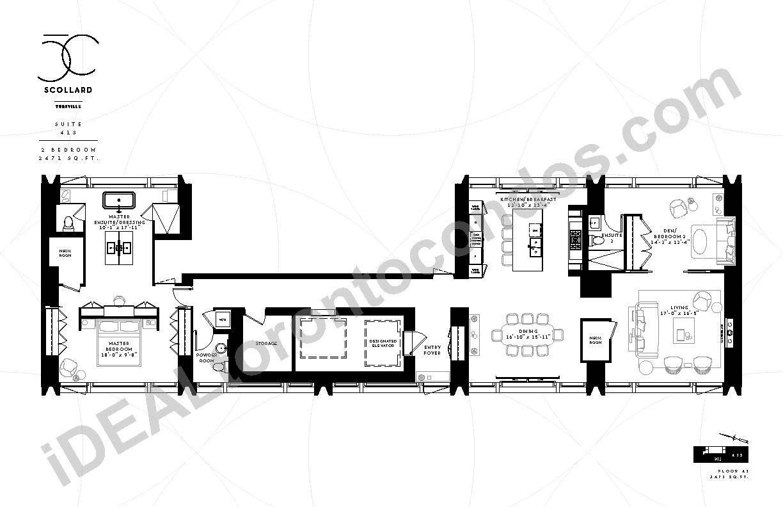 Suite 41 S | 2 Bedroom