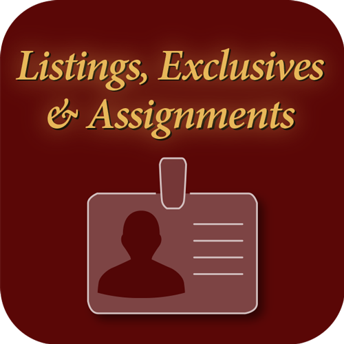 Listings, exclusives and assignments icon