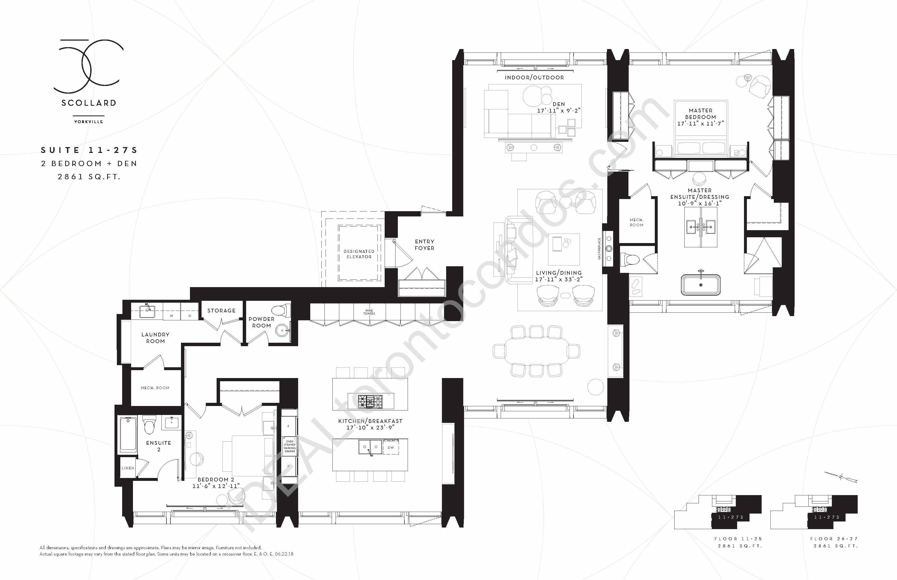 Suite 11-27 S | 2 Bedroom + den