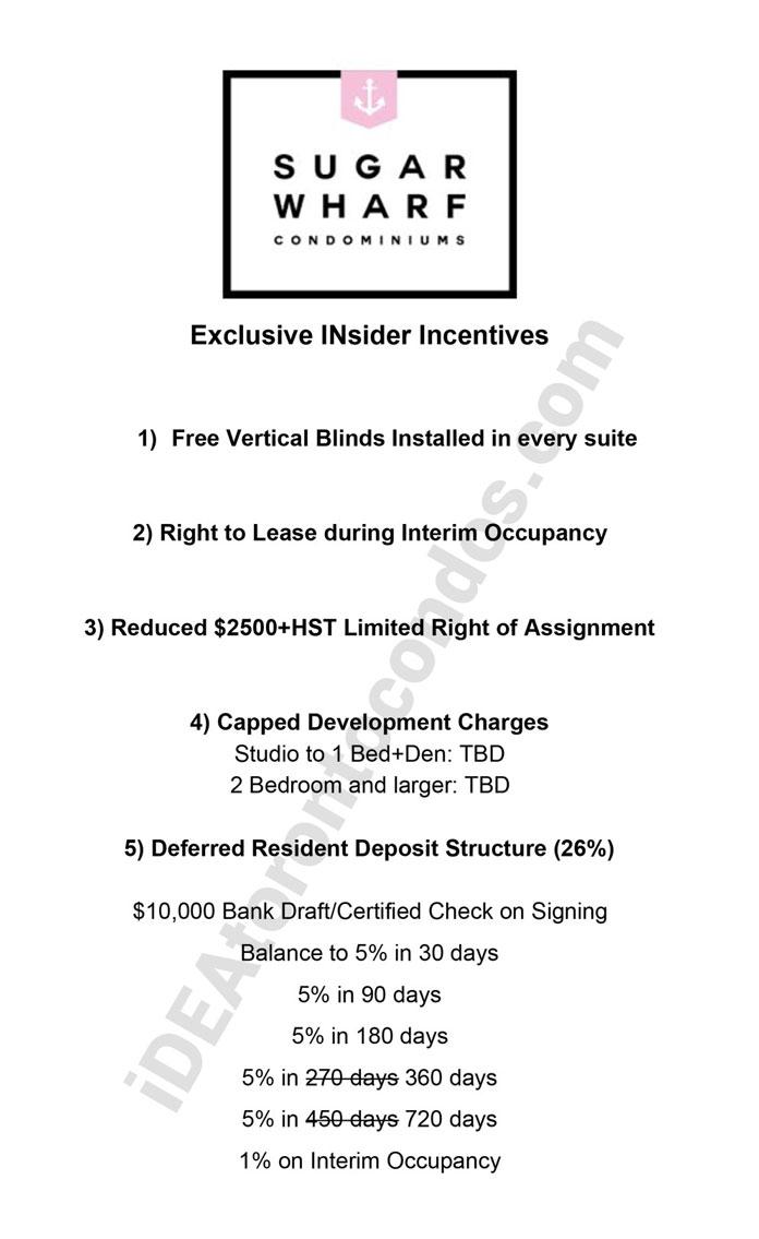 Exclusive Sugar Wharf Incentives-idealtoronto