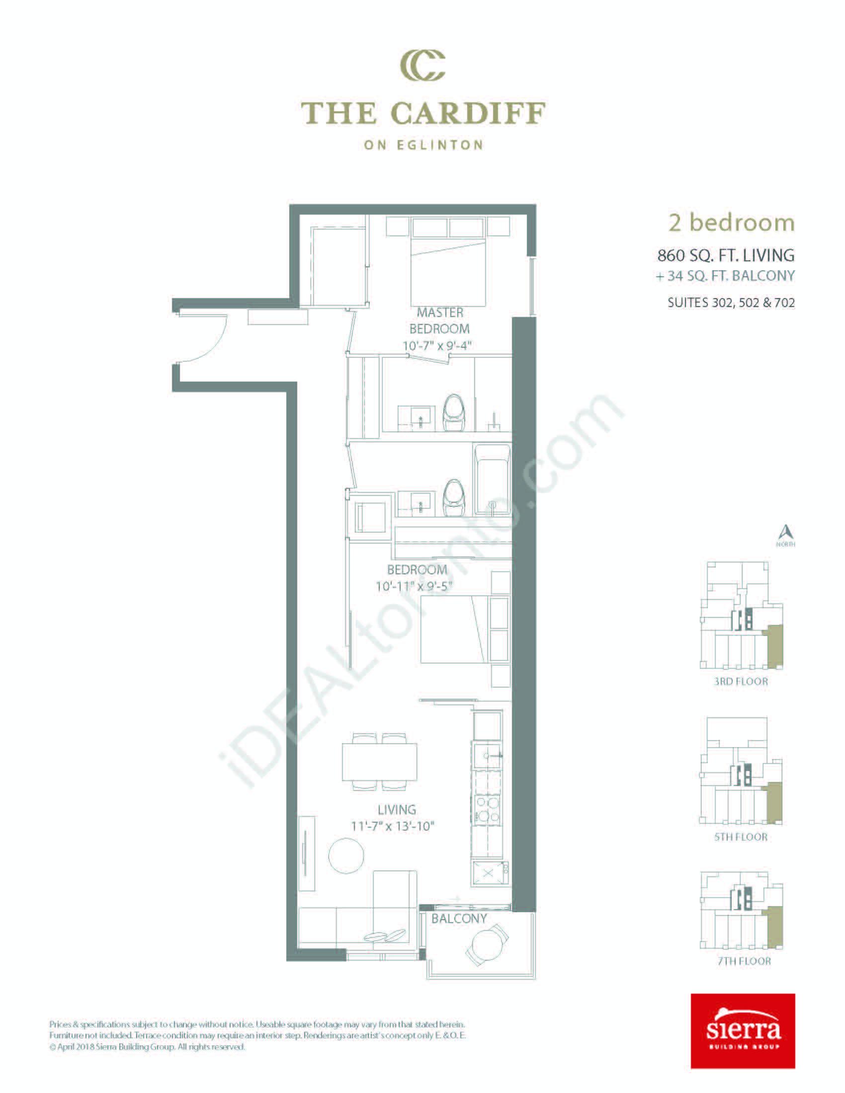 2 Bedroom + Balcony