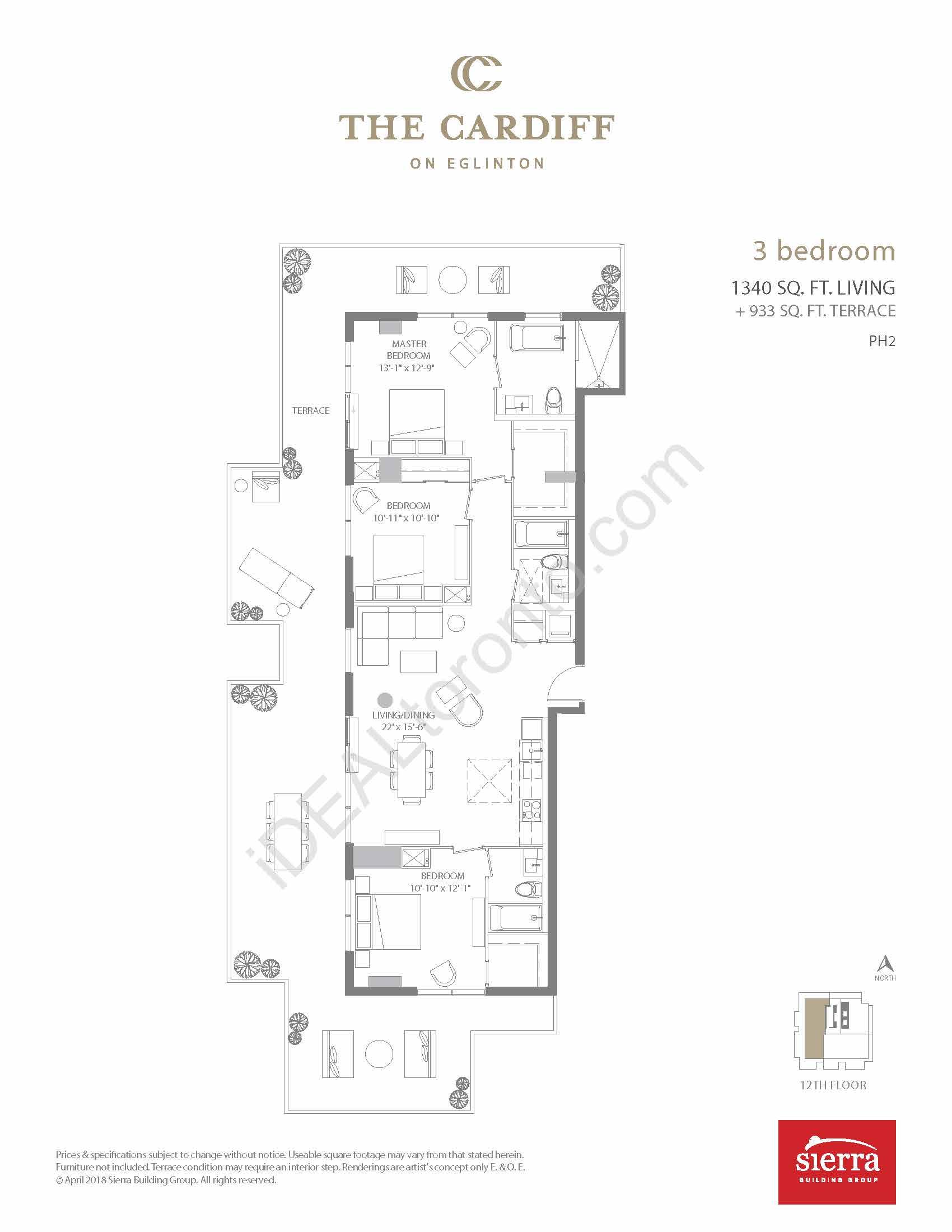 3 Bedroom + Terrace