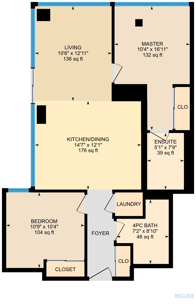 Floorplan 1107 at 65 St Mary St