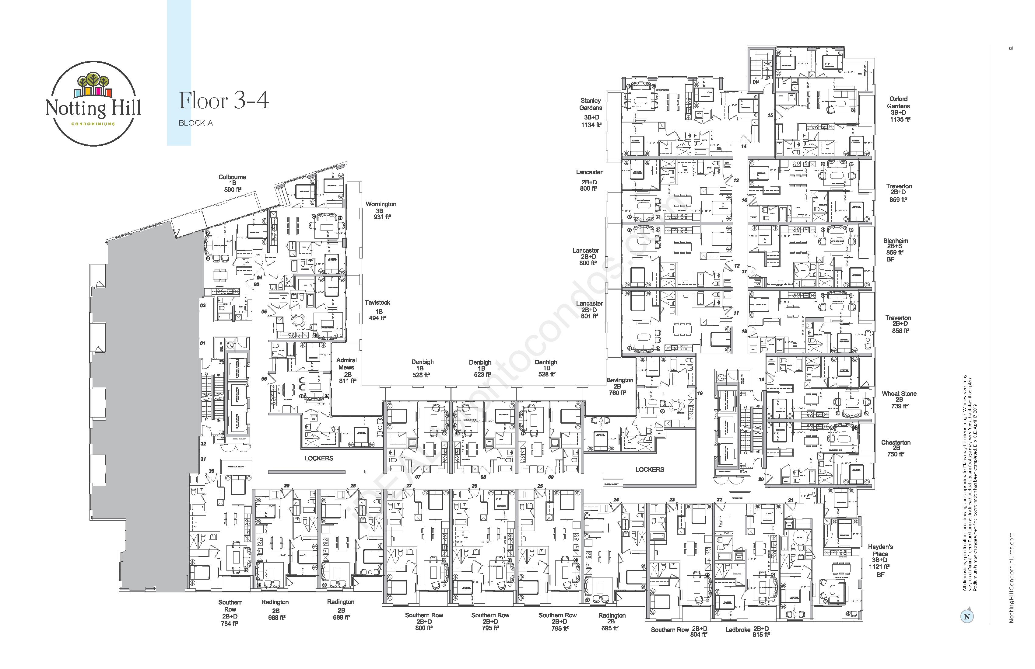 Floorplate 3-4