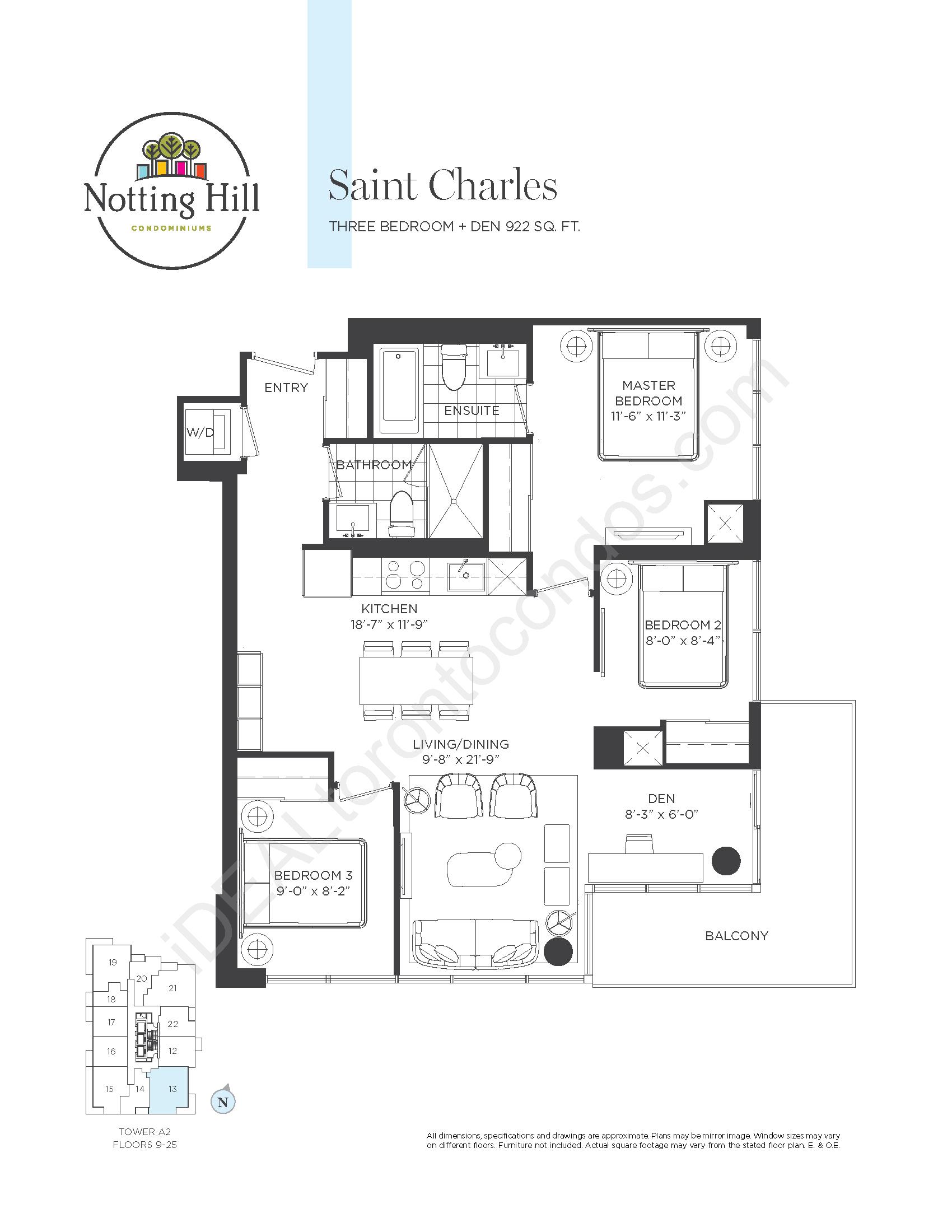 Saint Charles - Three Bedroom + den